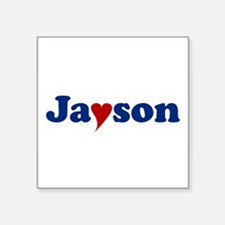 """Jayson with Heart Square Sticker 3"""" x 3"""""""