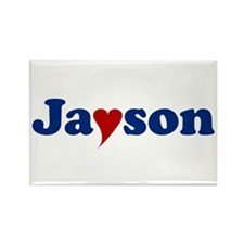 Jayson with Heart Rectangle Magnet