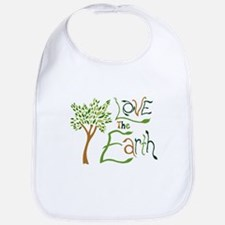 2-love-the-earth-green Baby Bib