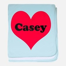 Casey Leather Heart baby blanket