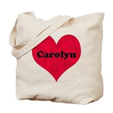 Carolyn Leather Heart Tote Bag