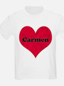 Carmen Leather Heart T-Shirt