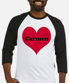 Carmen Leather Heart Baseball Jersey