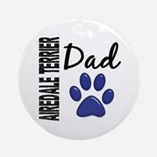 Airedale Terrier Dad 2 Ornament (Round)