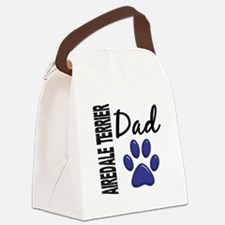 Airedale Terrier Dad 2 Canvas Lunch Bag