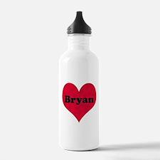 Bryan Leather Heart Water Bottle