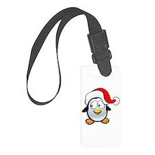 Penguin Santa Luggage Tag