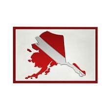 """""""Alaska Diver Flag"""" Rectangle Magnet"""