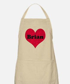 Brian Leather Heart Apron