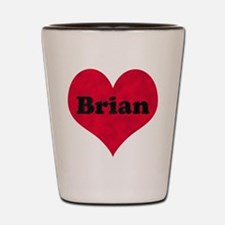 Brian Leather Heart Shot Glass