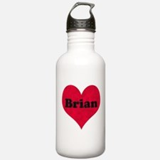 Brian Leather Heart Water Bottle