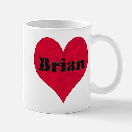 Brian Leather Heart Mug