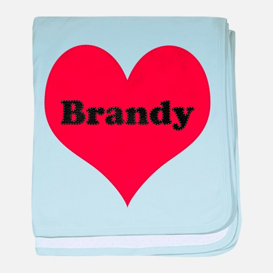 Brandy Leather Heart baby blanket