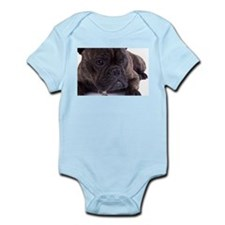 French bulldog - totally contented Infant Bodysuit