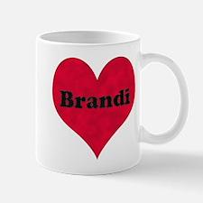 Brandi Leather Heart Mug