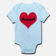 Brandi Leather Heart Infant Bodysuit