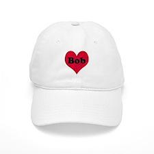 Bob Leather Heart Baseball Cap