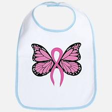 Breast Cancer Butterfly Bib