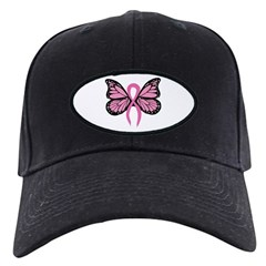 Breast Cancer Butterfly Baseball Hat