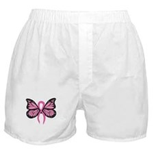 Breast Cancer Butterfly Boxer Shorts