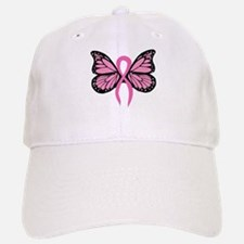 Breast Cancer Butterfly Baseball Baseball Cap