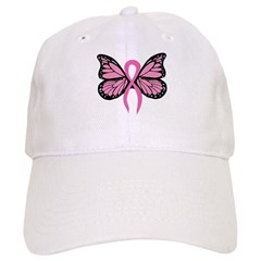 Breast Cancer Butterfly Baseball Cap