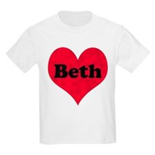 Beth Leather Heart T-Shirt