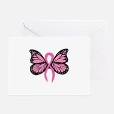 Breast Cancer Butterfly Greeting Cards (Package of