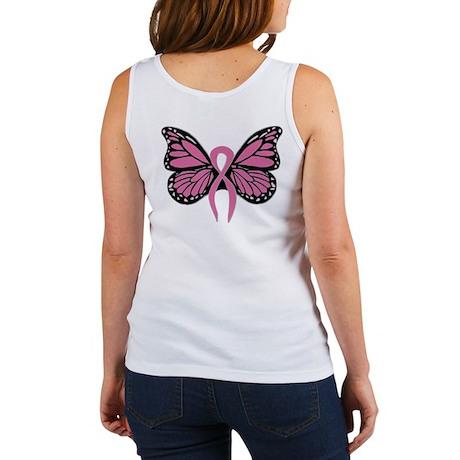 Breast Cancer Butterfly Women's Tank Top