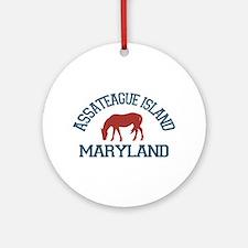 Assateague Island MD - Ponies Design. Ornament (Ro
