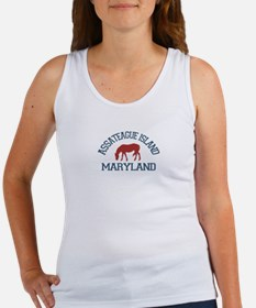 Assateague Island MD - Ponies Design. Women's Tank
