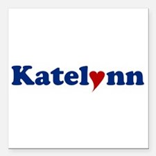 "Katelynn with Heart Square Car Magnet 3"" x 3"""