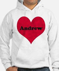 Andrew Leather Heart Hoodie