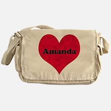 Amanda Leather Heart Messenger Bag