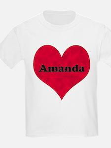 Amanda Leather Heart T-Shirt