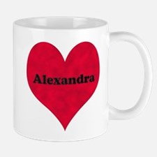 Alexandra Leather Heart Mug