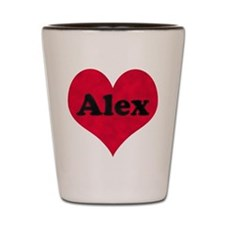 Alex Leather Heart Shot Glass