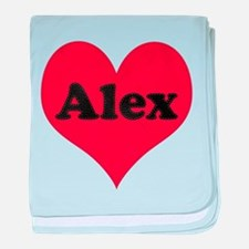 Alex Leather Heart baby blanket