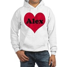 Alex Leather Heart Hoodie