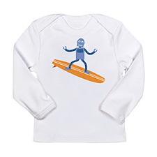 Surfing Robot Long Sleeve Infant T-Shirt