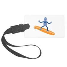 Surfing Robot Luggage Tag
