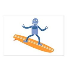 Surfing Robot Postcards (Package of 8)