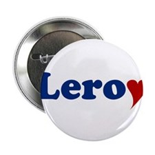 """Leroy with Heart 2.25"""" Button"""