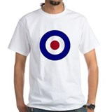 Bullseye Mens White T-shirts