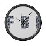FBI 11 Large Wall Clock