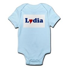 Lydia with Heart Onesie