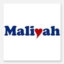"Maliyah with Heart Square Car Magnet 3"" x 3"""