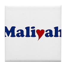 Maliyah with Heart Tile Coaster