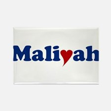 Maliyah with Heart Rectangle Magnet