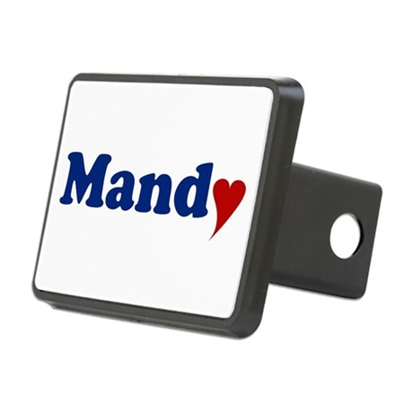 Mandy with Heart Rectangular Hitch Cover